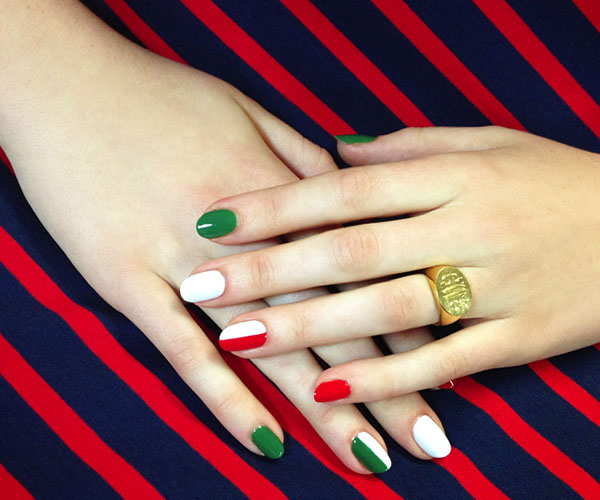 Flag-Inspired Nails